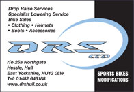 Specialist Lowering service - Bike Sales - Bike Clothing Bike Helmets - Boots - Accessories