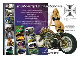 custom, classic and modern bikes paintwork